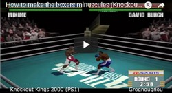 This cheat code for the game Knockout Kings 2000 will make the boxers to be minuscules.