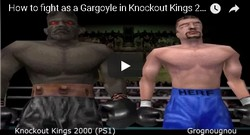This Gargoyle is a hidden boxer in the game Knockout Kings 2000.