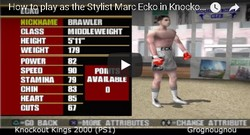 How to unlock the stylist Mark Echo in Knockout Kings 2000.