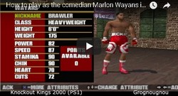 How to unlock the comedian Marlon Wayans in Knockout Kings 2000.