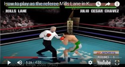 The referee Mills Lane is a secret boxer in the boxing game Knockout Kings 2000.