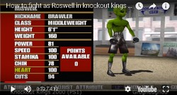The alien Roswell is a secret boxer in the boxing game Knockout Kings 2000.