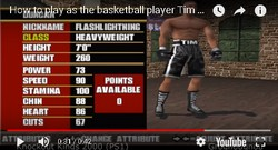 The Basketball player Tim Duncan is a secret boxer in the boxing game Knockout Kings 2000.