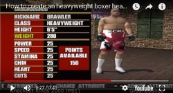 A tip for Knockout Kings 2000 which allows the player to create a super heavyweight boxer.