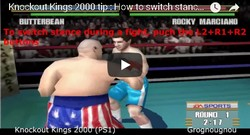 Here is how to switch stances during fights in the boxing game Knockout Kings 2000 for playstation 1.