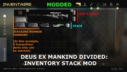 How to make items stack in the player's inventory (Modding tutorial for Deus Ex Mankind Divided).