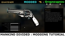 How to mod the weapons' base statistics (Modding tutorial for Deus Ex Mankind Divided).