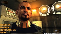 Very close look at the third and last boss of Deus Ex Human Revolution, Jaron Namir.