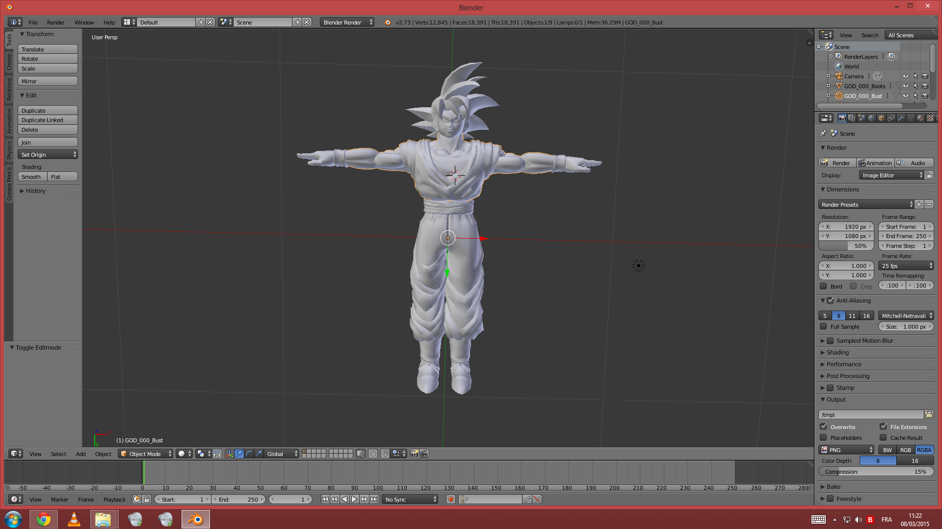 Blender Character Modeling 10 Of 10 : Dragon ball xenoverse mods