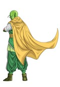 A Namekian character created with DBZ Xenoverse's ingame editor.