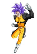 A saiyan male character created with Dragonball Xenoverse's ingame editor.