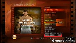Cheat code for fight night round 3 : It gives the player 999999 credits.
