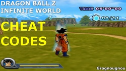 Cheat codes for the game Dragon Ball Z Infinite World.