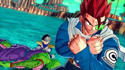 The mysterious warrior from Dragon Ball Xenoverse's promotional pictures is shown protecting Kid Gohan and Piccolo.
