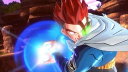 The Mysterious warrior from Dragon Ball Xenoverse uses the Kamehameha.