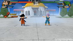 Trunks and Songoten Potaras Fusion Mod in Dragon Ball Z Budokai Tenkaichi 3 by Grognougnou.